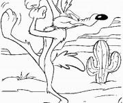 Coloriage et dessins gratuit Looney Tunes Vil Voyote en ligne à imprimer