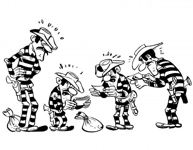 Coloriage et dessins gratuits Les Frères Daltons à imprimer