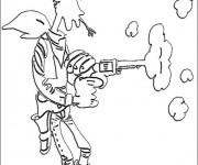 Coloriage dessin  Lucky Luke 11