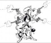 Coloriage Lucky Luke 16