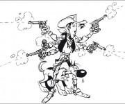 Coloriage dessin  Lucky Luke 16