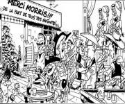 Coloriage dessin  Lucky Luke 7