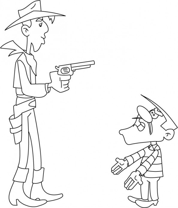 Coloriage et dessins gratuits Lucky Luke et William à imprimer