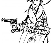 Coloriage Lucky Luke Le Sheriff