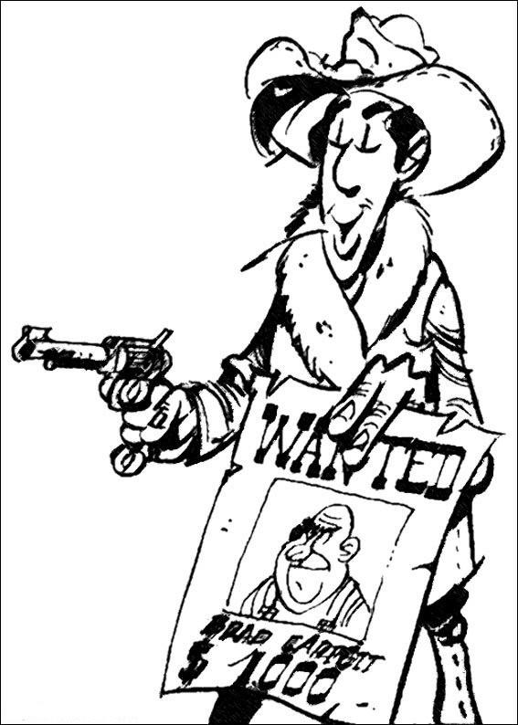 Coloriage et dessins gratuits Lucky Luke Le Sheriff à imprimer