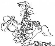 Coloriage et dessins gratuit Lucky Luke maternelle à imprimer
