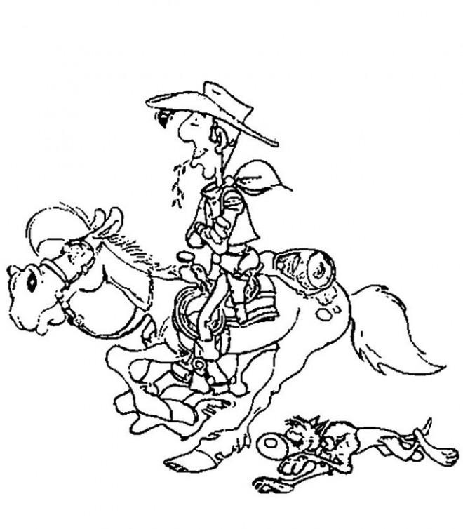 Coloriage et dessins gratuits Lucky Luke maternelle à imprimer