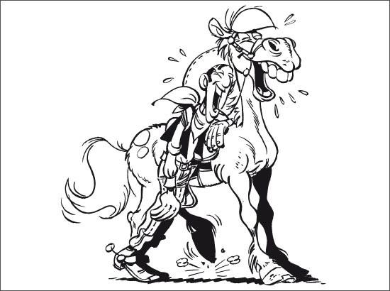 Coloriage et dessins gratuits Lucky Luke rigolo à imprimer