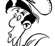 Coloriage Tête de Lucky Luke