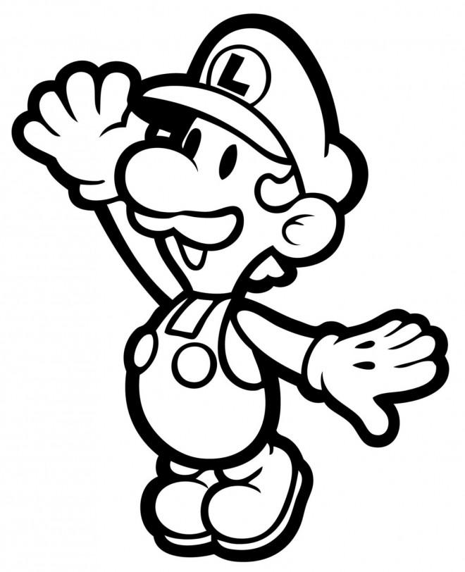 Coloriage Luigi Simple A Colorier Dessin Gratuit A Imprimer