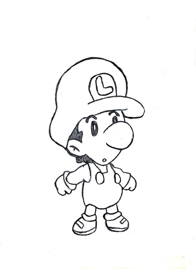 Coloriage et dessins gratuits Bébé Luigi à imprimer à imprimer