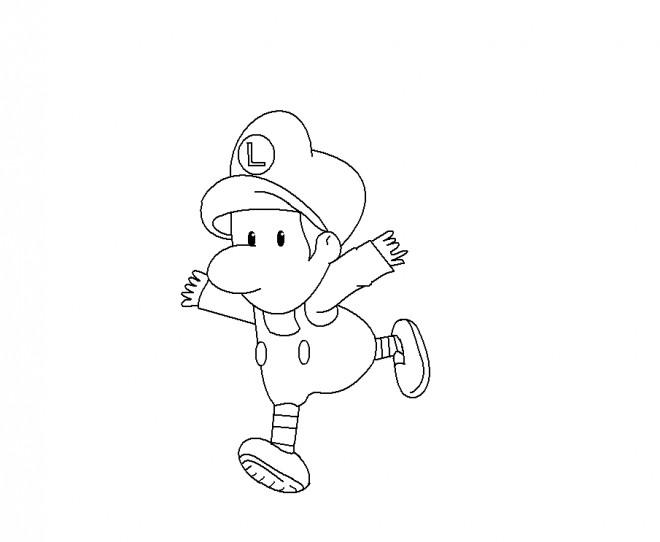 Coloriage et dessins gratuits Bébé Luigi en ligne gratuit à imprimer