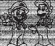 Coloriage Dessin de Mario et Luigi à imprimer