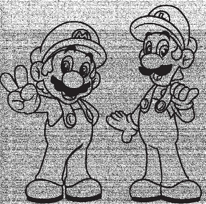 Coloriage et dessins gratuits Dessin de Mario et Luigi à imprimer à imprimer