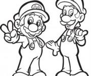 Coloriage dessin  Luigi 7