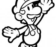 Coloriage Luigi à imprimer