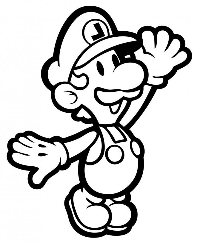 Coloriage Luigi imprimer dessin