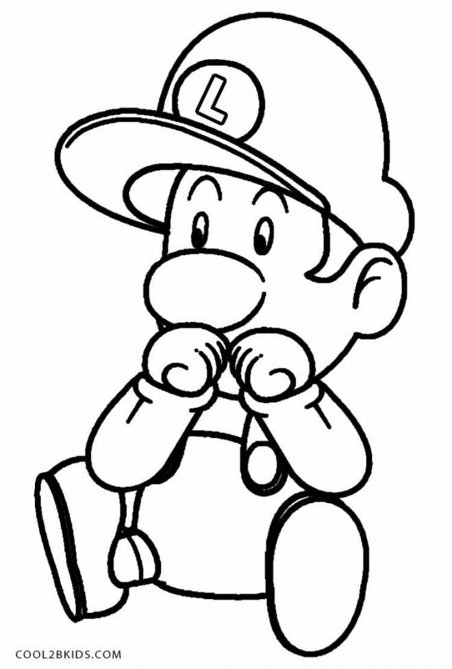 Coloriage et dessins gratuits Luigi Bébé imprimer gratuit à imprimer