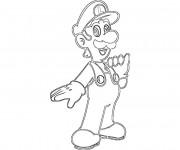 Coloriage Luigi coloriage