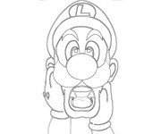 Coloriage Luigi dessin