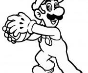 Coloriage Luigi et boule