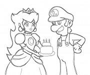 Coloriage Luigi et Daisy