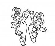 Coloriage Luigi et Mario dessin animé