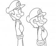 Coloriage Luigi et Mario gratuit en ligne