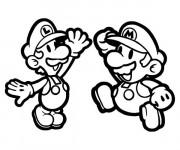 Coloriage dessin  Luigi et Mario image gratuit