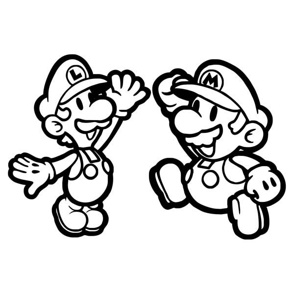 Coloriage Luigi Et Mario Image Gratuit Dessin Gratuit à Imprimer