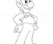 Coloriage Luigi facile