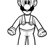 Coloriage dessin  Luigi gratuit