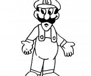 Coloriage Luigi gratuit à imprimer