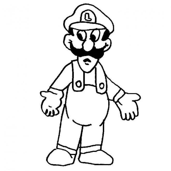 Coloriage et dessins gratuits Luigi gratuit à imprimer à imprimer