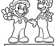 Coloriage Mario Bros et Luigi