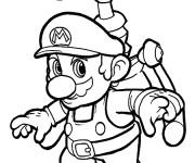 Coloriage Mario en volant à imprimer
