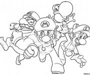 Coloriage Mario et ses amis
