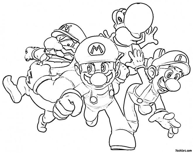 Coloriage et dessins gratuits Mario et ses amis à imprimer