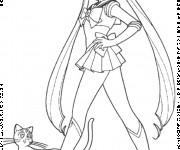 Coloriage Luna dessin animé