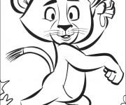Coloriage dessin  Madagascar à imprimer