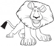 Coloriage Madagascar Alex le lion