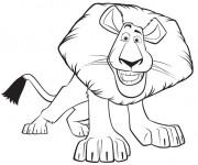 Coloriage dessin  Madagascar Alex le lion