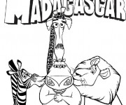 Coloriage Madagascar film