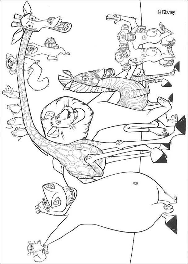 Coloriage et dessins gratuits Madagascar gratuit à imprimer