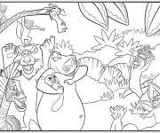 Coloriage et dessins gratuit Madagascar Zoo à imprimer