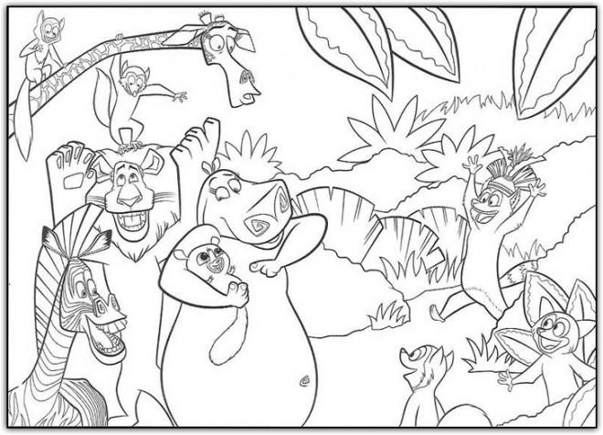Coloriage et dessins gratuits Madagascar Zoo à imprimer