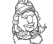 Coloriage et dessins gratuit Madame Patate brosse ses Dents à imprimer