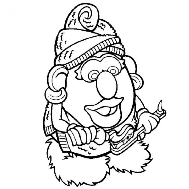 Coloriage et dessins gratuits Madame Patate brosse ses Dents à imprimer