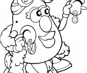 Coloriage Madame Patate en couleur