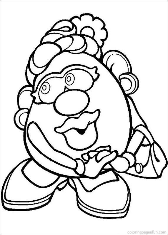 Coloriage et dessins gratuits Madame Patate en vecteur à imprimer